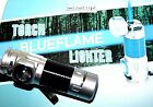 Sports Outdoor Blue Jet Flame Lighter with Power LED Torch Windproof Lighter New