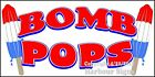 (Choose Your Size) Bomb Pops Ice Cream DECAL Food Truck Concession Restaurant