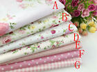 "(19""x19"") Pink Fat Quarter Bundle Quilt Quilting 100%cotton Fabric Sewing DIY"