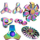 Rainbow Colors Titanium Alloy EDC Hand Fidget Spinner High Speed Focus