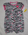 NWT Infant Baby Girls JUMPING BEANS Zebra with Hearts Summer Romper - 24 months