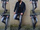 Fashion UK Mode Rocker BIKER Skinny Strech Stone Washed Herren RöhreJeans Hose