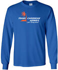 Trans Caribbean Airways Vintage Logo Puerto Rican Airline Long-Sleeve T-Shirt