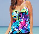 Swimsuit Top Only - Floral Flowers Design - Sizes 14, 18, 22, 24