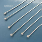 Внешний вид - Solid Sterling Silver 2mm Ball Head Pins, for Making Charms [Choose Size]