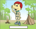 Boy Scout  Cartoon Character Personalized Matted Print  Product  11 x 14