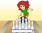 Bowler Female Cartoon Character Personalized Matted Print  Product  11 x 14