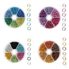 6 Colors Aluminum Wire Open Jump Rings Mixed Color 6x0.8mm Jewelry Finding
