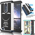 Hybrid Impact Rubber Defender Hard Case Protective Cover for ZTE Zmax Pro Z981