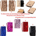 ZD For Samsung Series Phone Laser Butterfly Strap Wallet Card Leather Case Cover