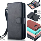 Luxury Leather Flip Wallet Case Removable Magnetic Cover For Samsung Galaxy S8+