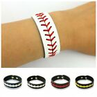 Unisex Leather Weave Bracelet Softball Sporting Outdoor Hand Accessory Wristband