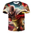 New Men's 3D Anime Print Funny T-Shirt Casual Personalized Graphic Tee M to 2XL