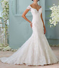 New Arrival White/Ivory Mermaid Wedding Dress Lace Applique Bridal Gown Custom