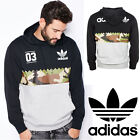adidas Originals Mens Hoodie Black Camo Grey Serrated Graphic Trefoil Logo