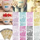 Glitter Crystal Alphabet Letter Stickers Self Adhesive ABC A-Z Words Sticker New