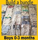 REDUCED****Baby Boys Babygrows Vests Bundles Age 0-3 Months INC Next