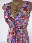 New M&S Floral Pink Blue Maxi Dress Size 8 or 12 Summer Marks & Spencer Wedding
