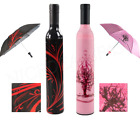 Wine Bottle Umbrella Folding Portable Trademark Red or Pink Single or 2-PACK NEW