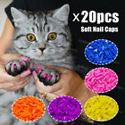 Soft Nail Caps for Cat Claws size Medium 20 pcs + Adhesive