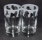 "New Etched ""BICHON FRISE"" Hiball Glasses -Beautiful Gift Or For Keeps!"