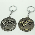 3D Wolf Head Metal High Quality Round Pendant Key Chain King Ring