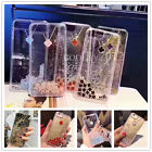 For iPhone 6/6s/7 Plus Flowers Liquid Dynamic Quicksand Color Clear Soft Case