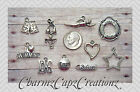 10pc Silver Swimming Charm Pendant Lot Set Collection /Jewelry+/Sports,Swimmer