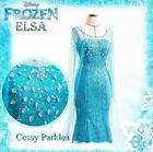 Deluxe Ladies Frozen Snow Queen Elsa Costume Cosplay Party Gown Fancy Dress