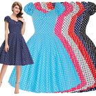 50s Retro Vintage Dress Pin Up Swing Housewife Women Ladies Cocktail Party Dress