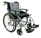 Self Propelled Wheelchair Folding Lightweight Aluminium with 18in Seat D-Lite X