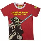STAR WARS YODA JUDGE ME BY MY SIZE DO YOU? T-SHIRT FABRIC FLAVOURS BNWT