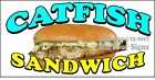 (CHOOSE YOUR SIZE) Catfish Sandwich DECAL Concession Food Truck Vinyl Sticker