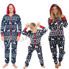 Parent-child One piece Casual Hoodies Jumpsuit Deer Christmas Rompers Man Woman