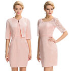 2017 LACE Mother of the Bride Outfit Formal Dress With Free Jacket Wedding Guest