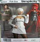 Simplicity Sewing Pattern 8201 Misses 6-14 Space Warrior Huntress Costume