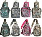 Women's 2 in 1 Canvas Paisley Chest Bag Sling Shoulder Cross Body Bags