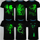 Men 3D Printing Cotton Glow in The Dark Luminous Short Sleeve T-Shirt Tee Top