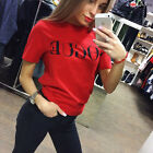 New Fashion Womens Ladies Summer Loose Tops Cotton Short Sleeve Blouse T Shirt New with tags