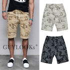 Mens Military Camouflage Print Banding Span Cotton Cargo Shorts Pants By Guylook