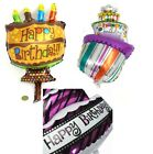 Happy Birthday Cake Shape Foil Helium Balloon Birthday Party Decoration