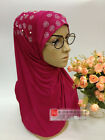muslim ladies scarf muslim women eid wedding hijab young girls Pearls scarf 8