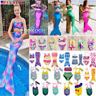 US Mermaid Tail Sea-maid Girls Kids Swimwear Swimsuit Beach Costume Bathing Suit