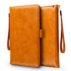 Strap Flip Leather Wallet Card Smart Case Cover For Apple iPad Mini /Air/Pro 9.7