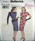 Butterick Sewing Pattern 6461 Ladies 6-10 Retro 40s War Years Vamp Dress