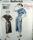 Butterick Sewing Pattern 6928 Ladies 14-18 Retro 50s Shawl Collar Dress