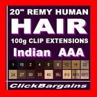 HAIR EXTENSIONS Genuine AAA REMY human hair 20 inches black brown blonde orange