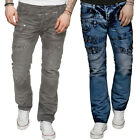 New ETO Mens Straight Leg Regular Fit Jeans Branded Funky Blue All Waist Sizes