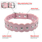 Rhinestone PU Leather Dog Collars Bling Cute for Small Medium Girl Dog Chihuahua
