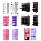 Interlocking DIY Plastic Shoe Bookcase Storage Cabinet Clothing Organizer